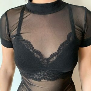 Urban Out From Under black sheer top, size XS